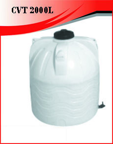 Citerne Verticale 2000 Litres Blanche